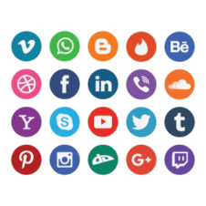 20 Free flat social media icons vector images