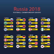 2018 Football World Cup Fixture Vector images