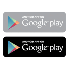 Android app on google play badge vector free download images