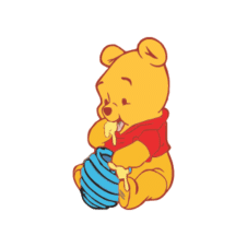 Baby Pooh Logo Vector Free Download images