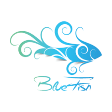 Blue Fish Logo Vector images
