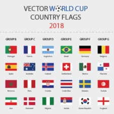 Fifa World Cup 2018 Flags Vector images