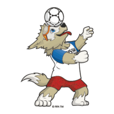 Fifa World Cup 2018 Mascot Vector images