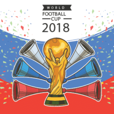 Fifa World Cup 2018 Poster Vector images