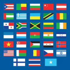 Fifa World Cup 2018 Teams Flags Vector images
