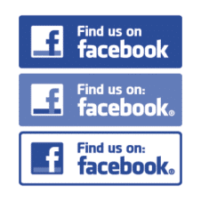 Find us on Facebook logo vector free download images