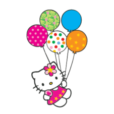 Hello Kitty con globitos Vector Logo images