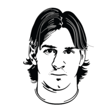 Messi Vector Art images