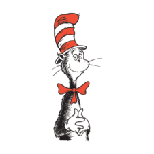 Cat in the Hat Vector Logo images