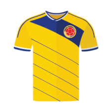 Colombia Jersey Vector images