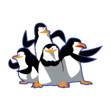 Madagascar pinguinos penguins Vector Logo images