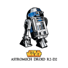 Star Wars Astromech Droid R2-D2 Vector Logo images