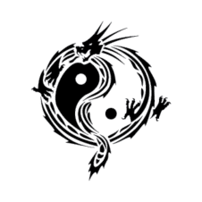 Yin yang dragon Vector Logo images