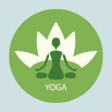 Yoga Lotus Position Vector Logo images