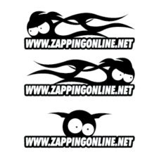Zapping on line Vector Logo images