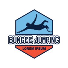 Bungee jumping Vector Logo images