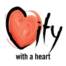 City with a Heart Logo Vector images