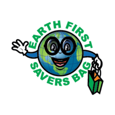 Earth First Savers Bag Logo Vector images