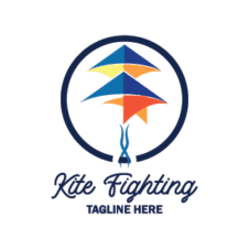 Kite fighting Vector Logo images