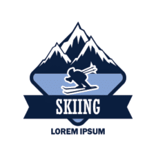 Skiing Vector Logo images