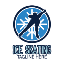 Speed skating Vector Logo images