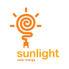 Sunlight Solar Energy Logo Vector images