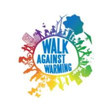 Walk Against Warming Logo Vector images