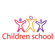 Children School Vector Logo images