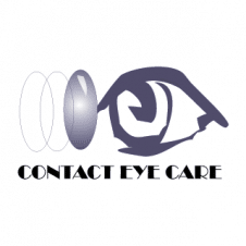 Contact Eye Care Vector Logo images