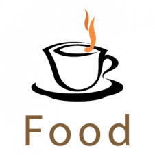 Food And Coffee Vector Logo images