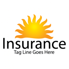 Sun Flower Insurance Logo Vector images