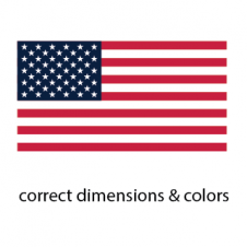 USA Flag Vector Logo images