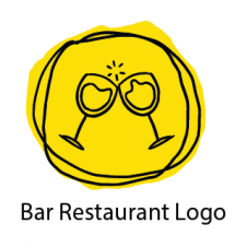 Bar Restaurant Logo Design images