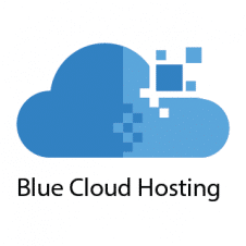 Blue Cloud Hosting Logo Vector images