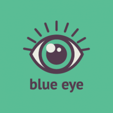 Blue Eye Logo Vector images
