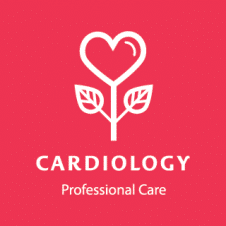 Cardiology porfessional Care Logo Vector images