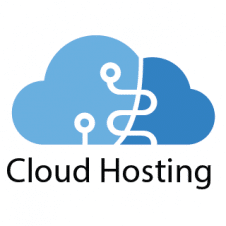 Cloud Hosting Logo Vector images