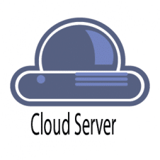 Cloud Server Logo Vector images
