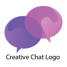Creative Chat Logo Vector images