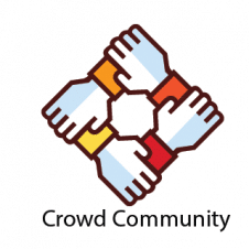 Crowd Community Logo Vector images