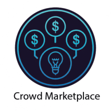 Crowd Marketplace Logo Vector images