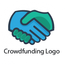 Crowdfunding Logo Vector images