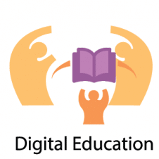 Digital Education Logo Vector images