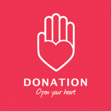 Donation Logo Vector images