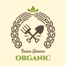 Farm Grown Organic Logo Vector images