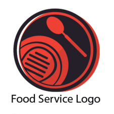 Food Service Logo Free Vector images