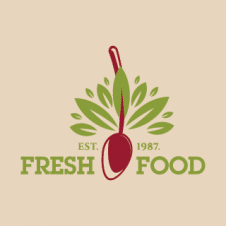 Fresh Food Logo Vector images