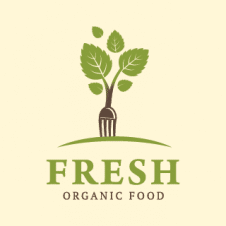 Fresh Organic Food Logo Vector images