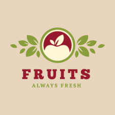 Fruits Always Fresh Logo Vector images