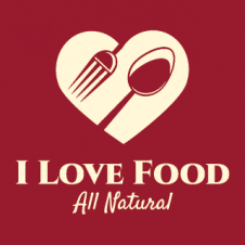 I Love Food All Natural Logo Vector images